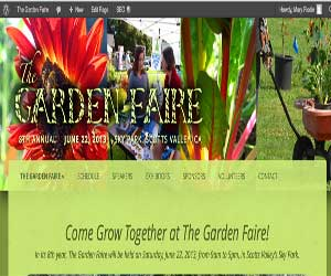 the garden faire web page